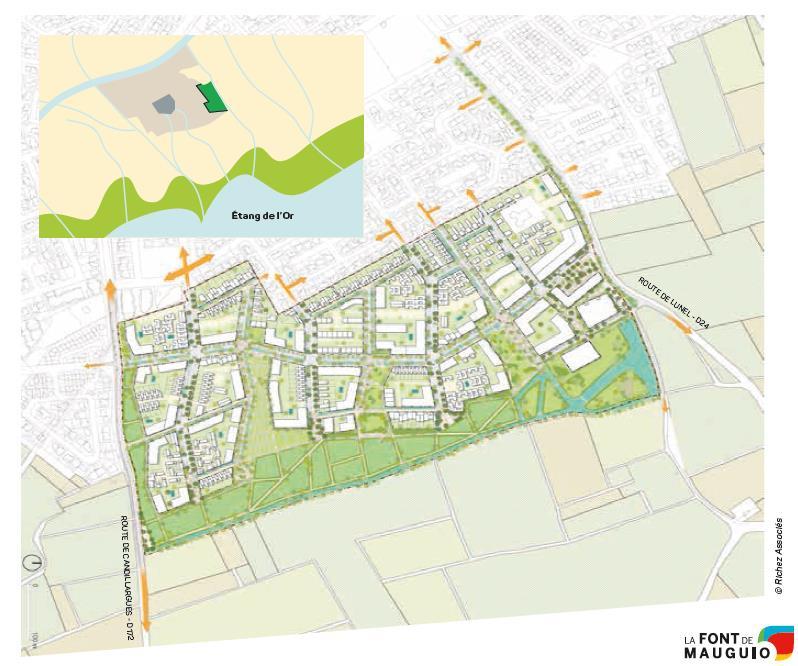 Plan masse Font Mauguio