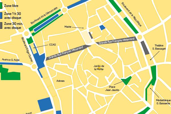 Carte zones stationnement MC