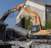 Cave coopérative : le bâtiment industriel en cours de démolition